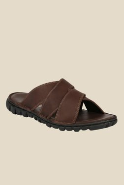 Shoe Bazar Brown Flat Sandals