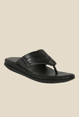 Shoe Bazar Black Thong Sandals