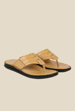 Shoe Bazar Beige Thong Sandals
