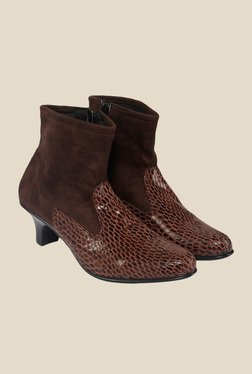 Shoe Bazar Brown Casual Boots