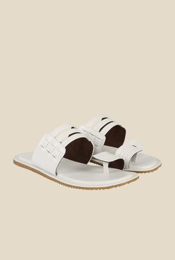 Shoe Bazar White Toe Ring Sandals