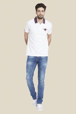 Globus White Stylish Solid T Shirt