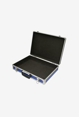 SRA Cases Aluminium Hard Blue Brief Case (Blue & Silver)