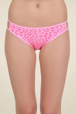 Clovia Pink Printed Bikini Panty