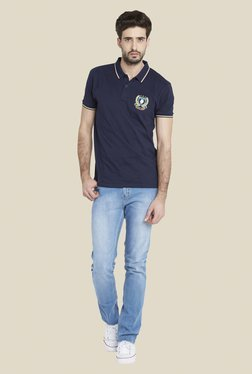 Globus Navy Short Sleeve Polo T Shirt