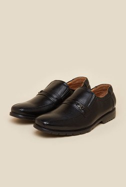 Da Vinchi By Metro Black Formal Shoes