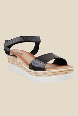 Mochi Black Ankle Strap Sandals