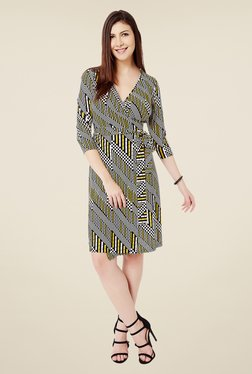 Avirate Multicolor Printed Wrap Dress