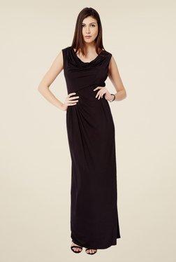 Avirate Black Cowl Neck Maxi Dress