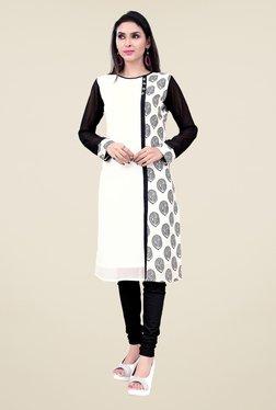 Occeanus White Printed Designer Kurta