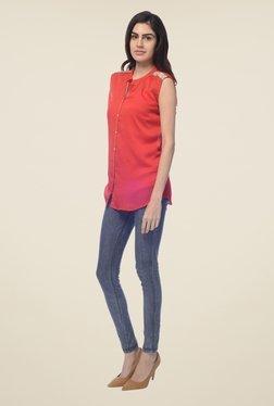 Desi Belle Coral Solid Shirt