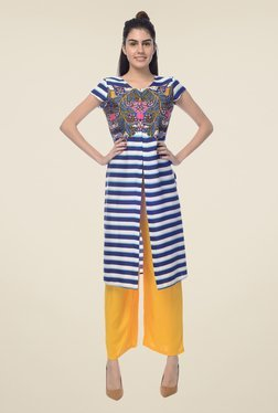Desi Belle Navy Striped Kurta