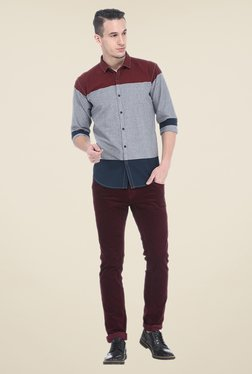 Basics Multicolor Solid Slim Fit Shirt