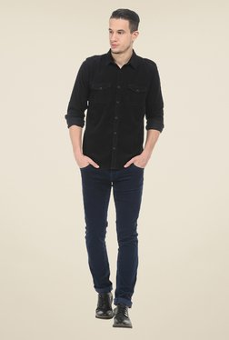 Basics Navy Solid Chinos