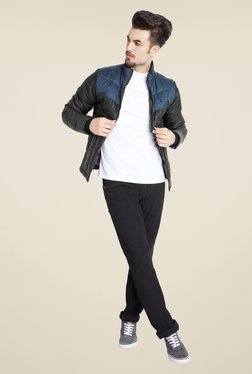 Parx Black Quilted Bomber Jacket