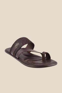 J. Fontini by Mochi Brown Toe Ring Sandals
