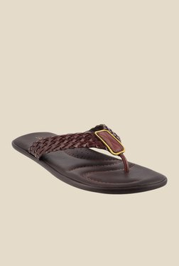 J. Fontini by Mochi Brown Thong Sandals