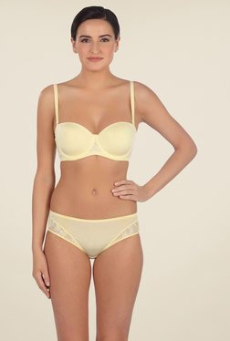 Triumph Yellow Lace Seamless Bra
