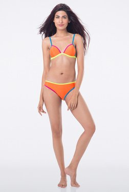 PrettySecrets Orange Solid Bikini