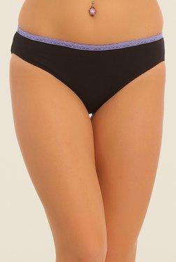 Clovia Black Solid Bikini Panty - Mp000000000538196