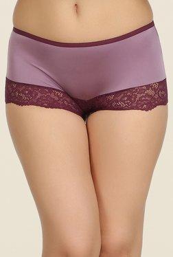 Clovia Purple Lace Hipster Panty - Mp000000000538306
