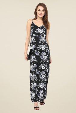 Harpa Black Floral Maxi Dress
