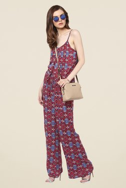 Harpa Red Printed Jumpsuit