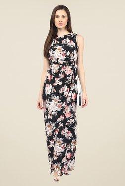 Harpa Black Floral Dress