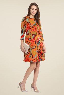 Harpa Multicolor Floral Print Above Knee Dress