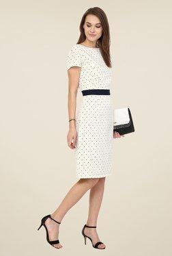 Harpa White Polka Dot Dress