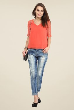 Harpa Coral Lace Top