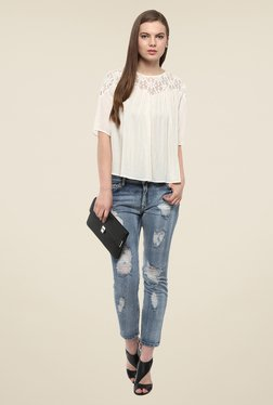 Harpa Off White Lace Top
