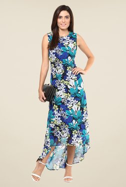 Harpa Multicolor Floral Print Sleeveless Dress