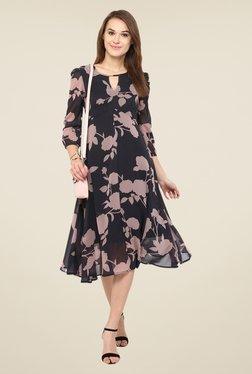 Harpa Black Floral Print Dress