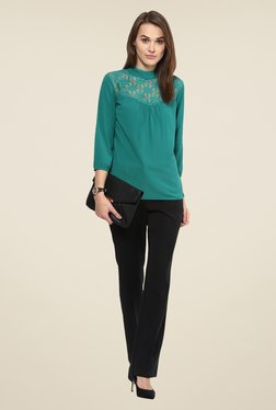 Harpa Green Lace Top
