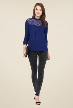 Harpa Blue Lace Top