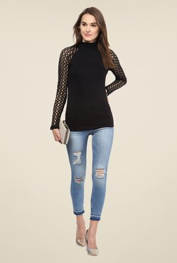 Harpa Black Lace Top