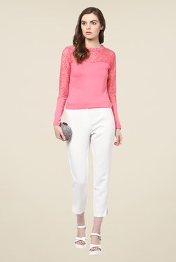 Harpa Pink Lace Top