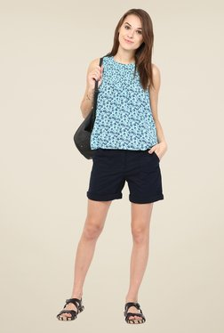 Harpa Turquoise Floral Print Top