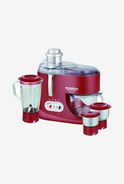 Maharaja Whiteline Treasure 550W Mixer Grinder (Red/Silver)