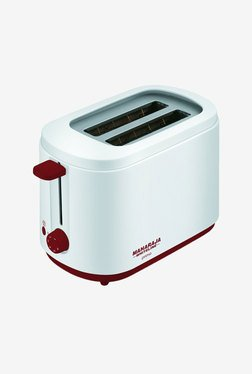 Maharaja Primo Pop Up 750 Watt Toaster (White/Red)