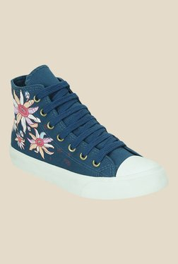 Get Glamr Hughes Blue & White Sneakers