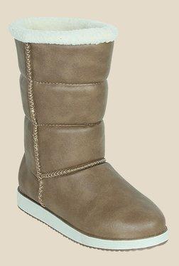 Get Glamr Olivia Beige Snow Boots