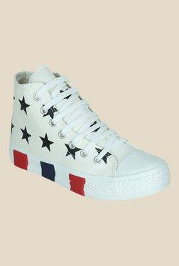 Get Glamr Giselle White & Black Sneakers