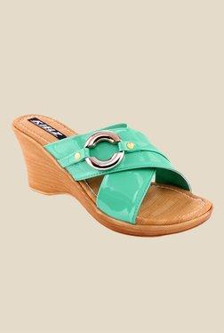 Kielz Green Wedge Heeled Sandals