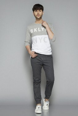Nuon by Westside Grey Slim Fit T Shirt