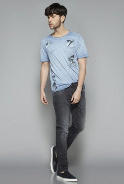 Nuon by Westside Blue Slim Fit T Shirt