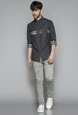 Nuon by Westside Grey Slim Fit Shirt