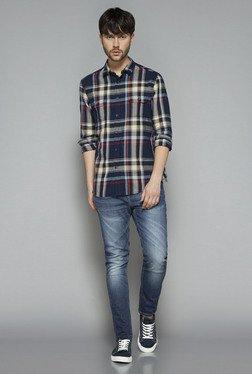 Nuon By Westside Blue Rocker Skinny Fit Stretch Jeans