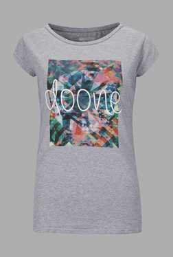 Doone Grey Printed Training T Shirt